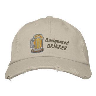 Bebedor señalado gorra de béisbol