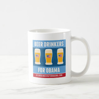 Bebedores de cerveza para la cerveza Stein de Obam Taza Básica Blanca