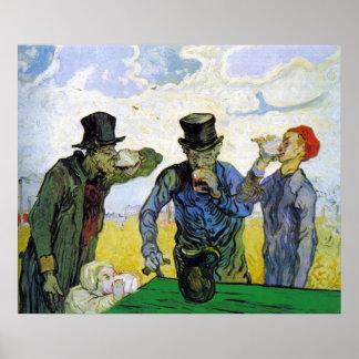 Bebedores de Vincent van Gogh Póster