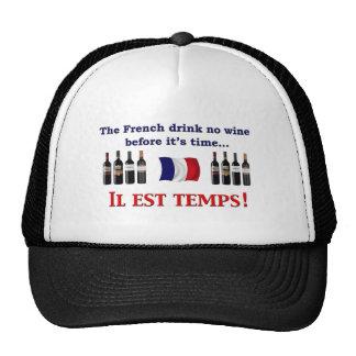 Bebedores del vino francés gorros bordados
