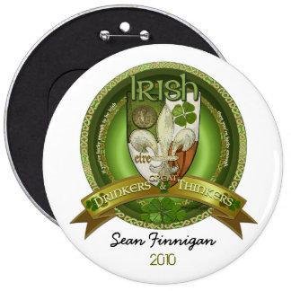 Bebedores y pensadores - bendiciones irlandesas pins