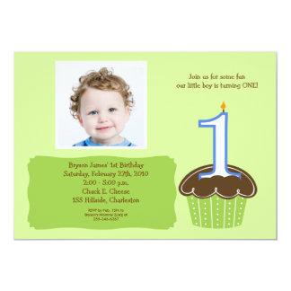 Bebés 1ros de la invitación del cumpleaños de la invitación 12,7 x 17,8 cm