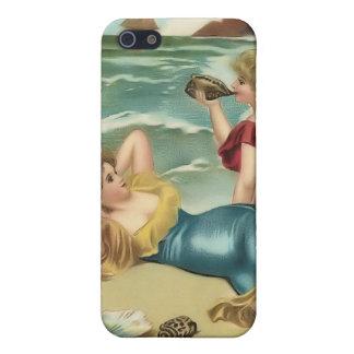 Bebés 4 de la playa del bañista de Sun del vintage iPhone 5 Funda