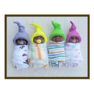 Bebés afroamericanos de la arcilla: Arcilla del po Tarjeta Postal