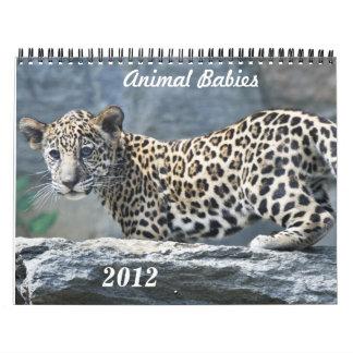 Bebés animales 2012 calendarios