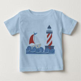Bebés barco y camiseta del niño del faro playeras