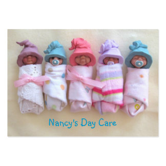 Bebés de la arcilla: Cuidado de día, cuidado de ni Tarjeta De Visita
