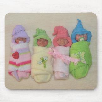 Bebés de la arcilla: Escultura, arcilla del políme Mouse Pad