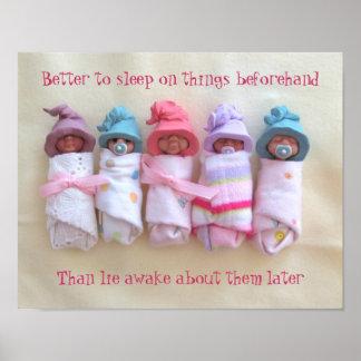 Bebés de la arcilla: Sueño en cosas, cita del buen Póster