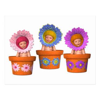 Bebés de la maceta de la fantasía postal