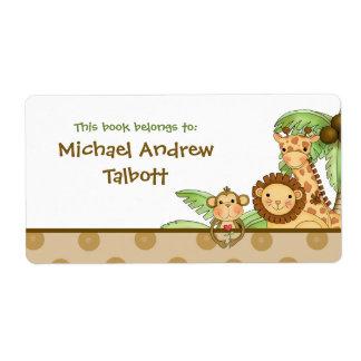 Bebés de la selva - etiqueta del libro etiqueta de envío