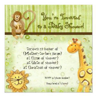 Bebés de la selva, invitación de la fiesta de