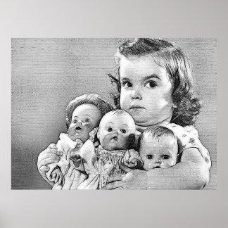 bebés de las muñecas póster