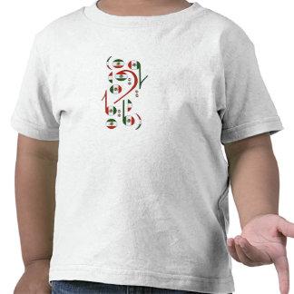 Bebés de las notas musicales de la bandera de Méxi Camiseta