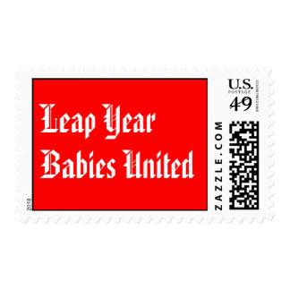 Bebés del año bisiesto unidos franqueo