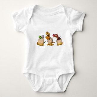 Bebés del dragón camisas