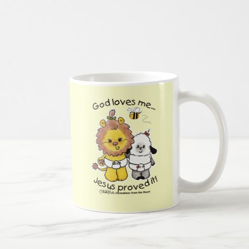 Bebés del león y del cordero taza