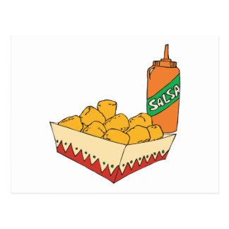 bebés del tater de la patata con salsa postales