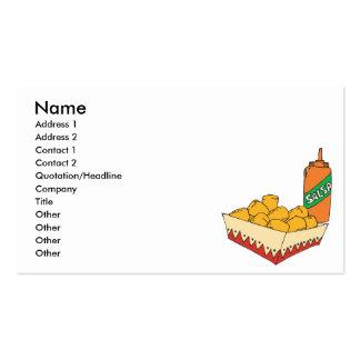 bebés del tater de la patata con salsa tarjetas de visita