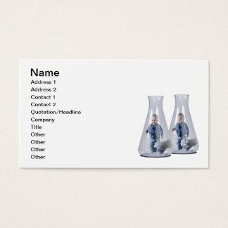 Bebés del tubo de ensayo tarjetas de visita