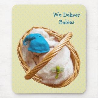 Bebés en arcilla: Partera, doctores: Entregue al b Tapete De Ratones