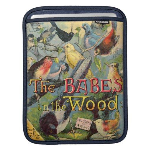 Bebés en la madera funda para iPads
