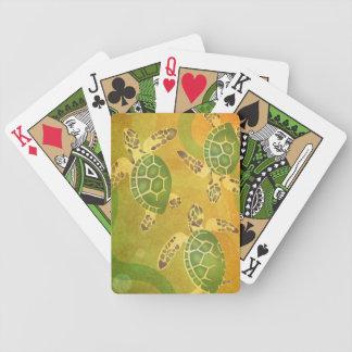 ¡Bebés hawaianos de la tortuga! Honu Keiki Baraja Cartas De Poker