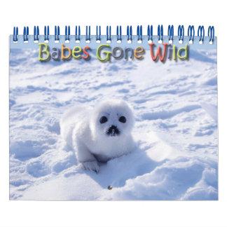 Bebés idos animales salvajes/salvajes del bebé calendarios