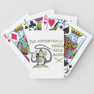 Bebés intrépidos del dragón 3 baraja cartas de poker