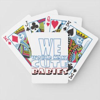 bebés lindos barajas de cartas