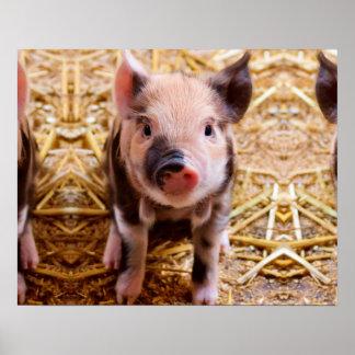 Bebés lindos de los animales del campo del póster