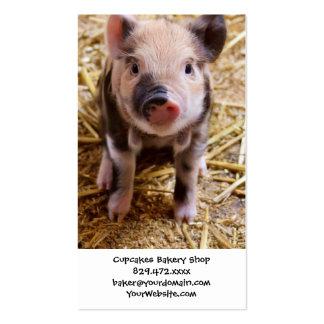 Bebés lindos del corral de los animales del campo tarjetas de visita