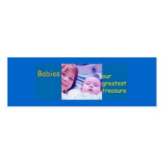 Bebés - nuestro tesoro más grande tarjeta de visita