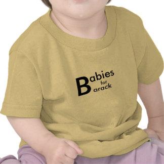Bebés para la camiseta de Barack