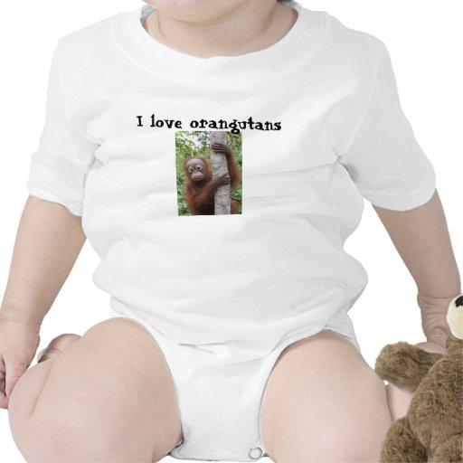 Bebés y orangutanes camiseta