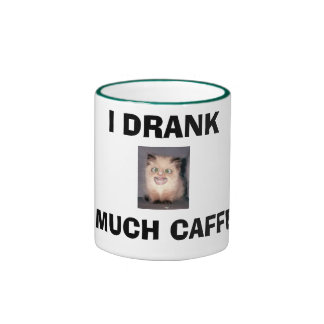 ¡BEBÍ DEMASIADO CAFEÍNA! TAZAS