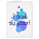 Bebí el agua tarjeta
