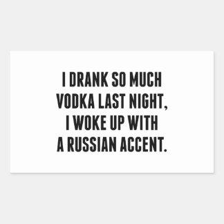 Bebí tanto la vodka anoche rectangular altavoces