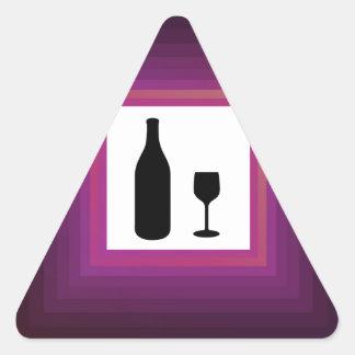 Bebida alcohólica calcomanía triangulo