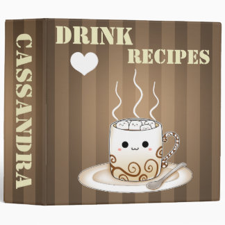"""Bebida caliente del cacao del kawaii lindo grande carpeta 2"""""""