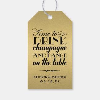 Bebida Champán de las etiquetas el | del favor del Etiquetas Para Regalos