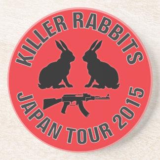 Bebida con los conejos del asesino posavasos cerveza