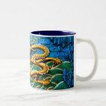 Bebida con los dragones tazas de café