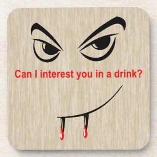 Bebida con un vampiro posavasos
