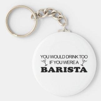 Bebida de Barista también Llaveros