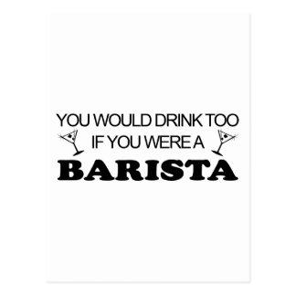 Bebida de Barista también Postal