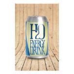 bebida de la energía de h2o papelería personalizada