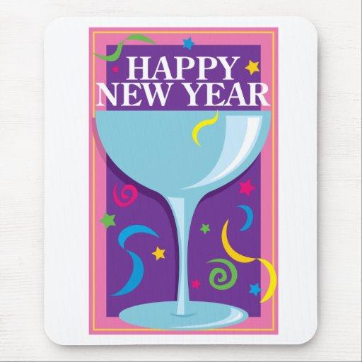 Bebida de la Feliz Año Nuevo Mouse Pad