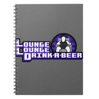 Bebida de lujo del salón del salón una cerveza libro de apuntes