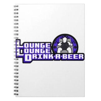 Bebida de lujo del salón del salón una cerveza spiral notebooks